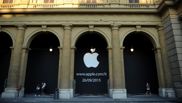 De Apple-winkel in Florence. Beeld getty