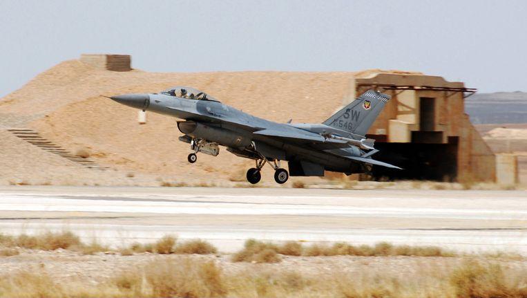 Een F-16 van het Amerikaans leger Beeld afp