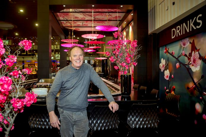 Herman Bos van Expo Flora uit Harmelen, dat de inrichting van Jumping Amsterdam in de RAI verzorgde.