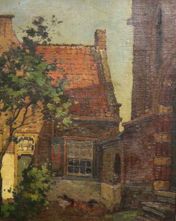 Het Heilige Geesthofje in Naaldwijk geschilderd door Ben Viegers.