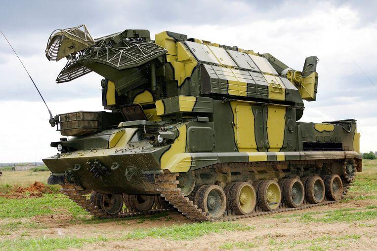 Het vliegtuig zou zijn neergehaald door een Tor M1-raket van Russische makelij. Deze Tor-raketten worden meestal afgeschoten vanaf een gepantserd voertuig.  Beeld AP