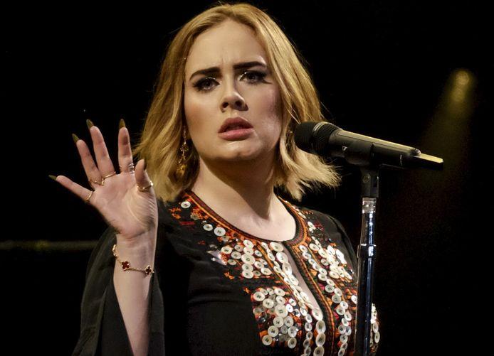 Adele, hier tijdens een optreden in 2019.