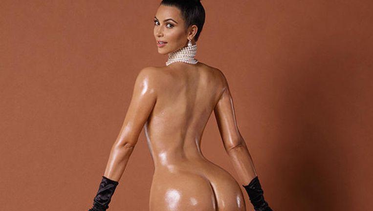 De blote derrière van Kim Kardashian moest en zou het internet breken. Beeld Photonews/AP/RV