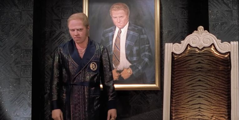 Thomas F. Wilson als Biff Tannen in de film Back to the Future Part II. Beeld Filmstill