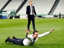 De vreugde van Ajax na het bereiken van de halve finales