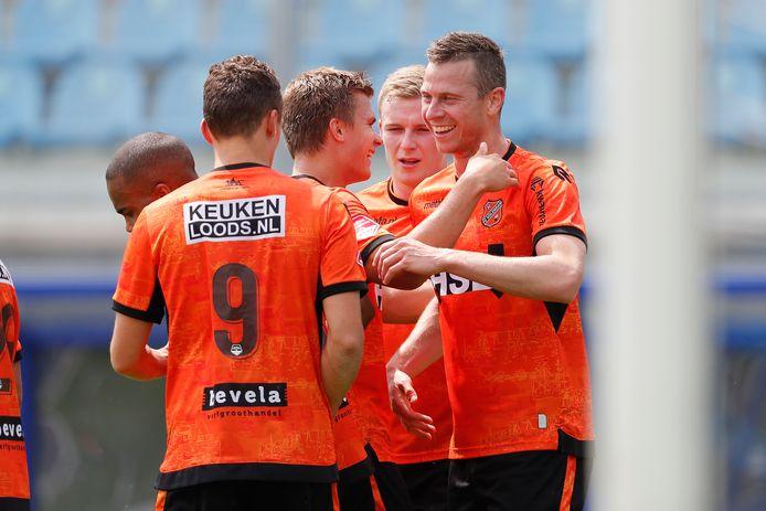 Met de doelpunten van Robert Mühren durft FC Volendam van promotie te dromen.