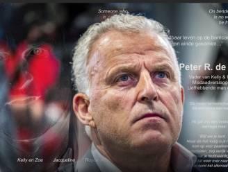 Paginagroot rouwbericht van kinderen Peter R. de Vries in Nederlandse kranten