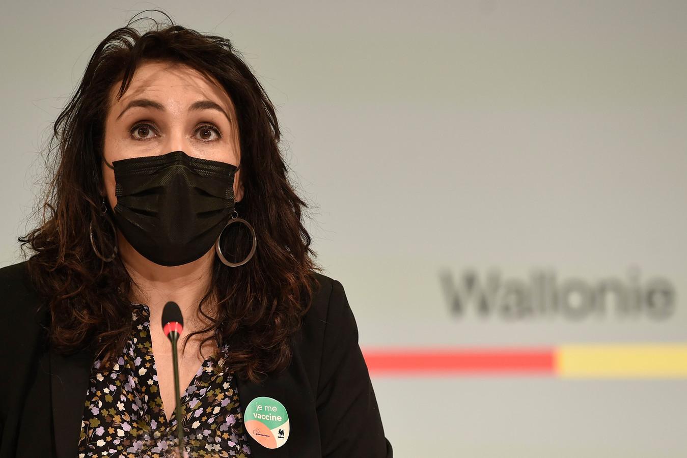 Waals minister van Volksgezondheid Christie Morreale (PS).