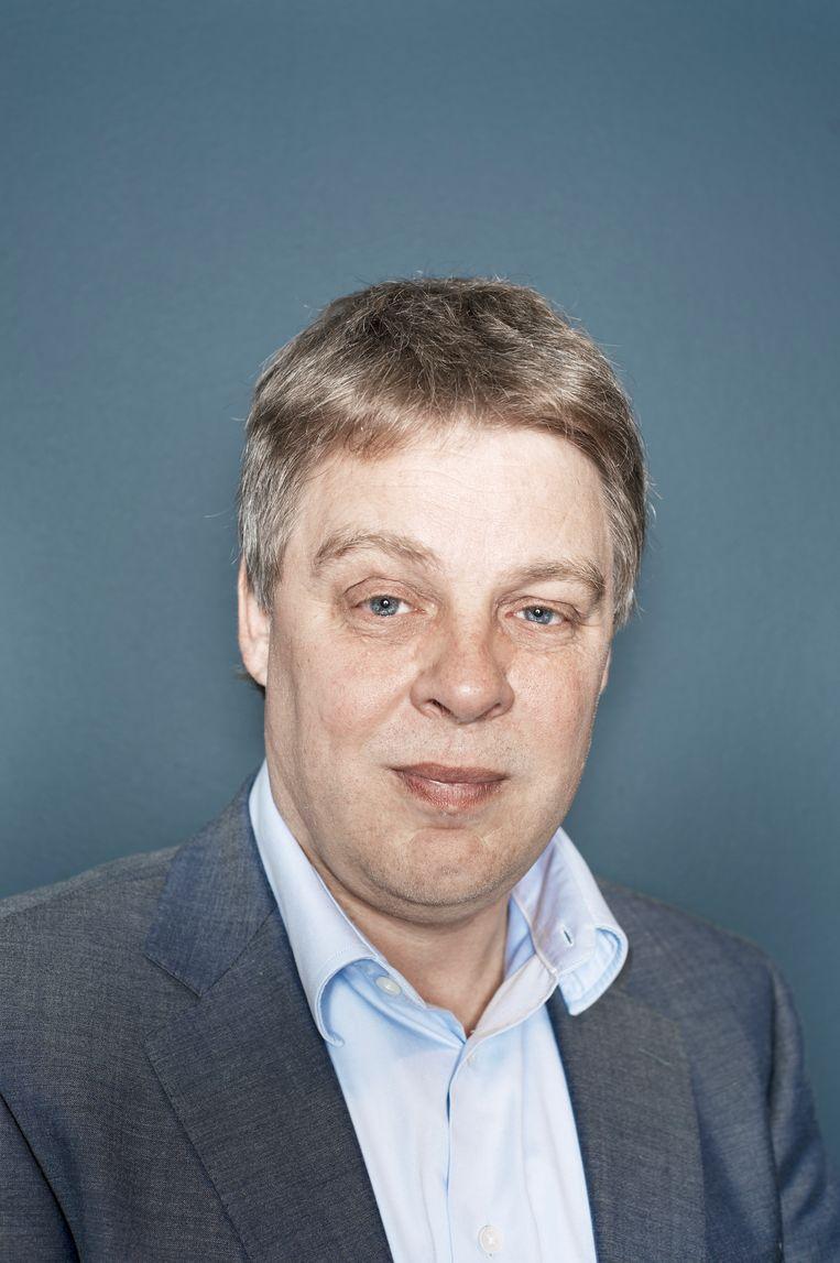 Joost Oranje. Hij treedt na negen jaar terug als hoofdredacteur van het actualiteitenprogramma Nieuwsuur.  Beeld Robin De Puy