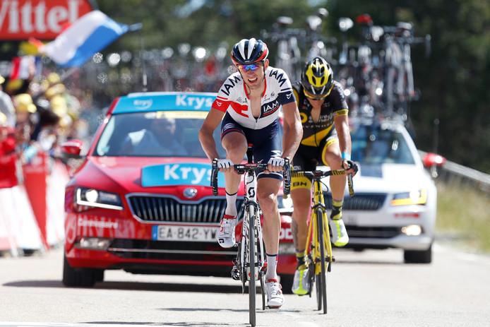 Stef Clement in actie tijdens de Tour de France