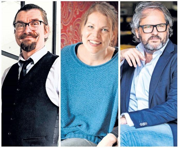 Cadeaubondeventer.nl, supportyourlocals-deventer.nl en lockdowncoffee.nl; drie Deventenaren - Dennis Hunneman, Joliene van Es en Paul Manetti (vlnr) - over hun initiatieven om ondernemers door de crisis te helpen.