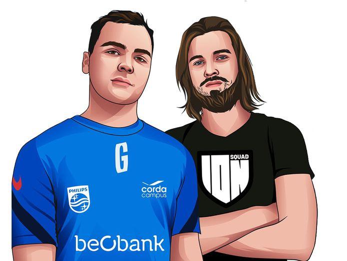 Pieter05 (KRC GENK Esports) en Dommy (ION SQUAD).