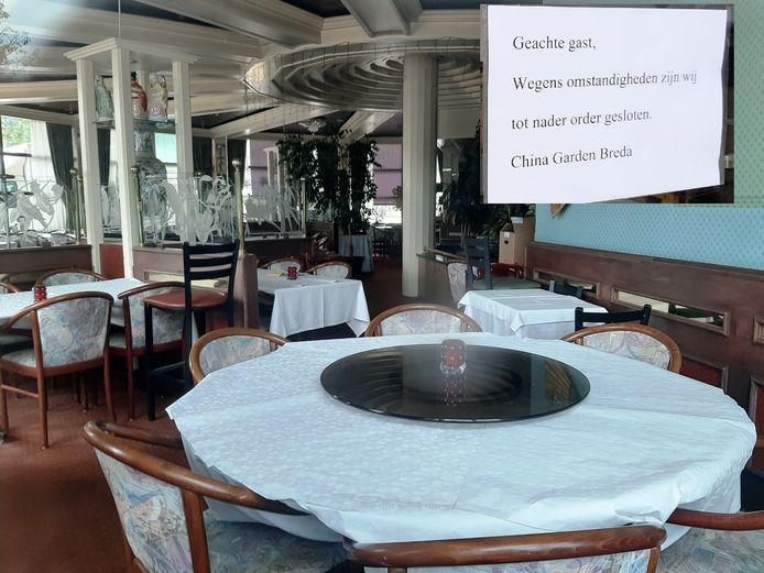 Restaurant China Garden aan de Heksenwaag in Breda is failliet.