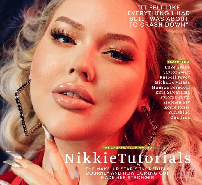 Nikkie op de cover van Attitude.