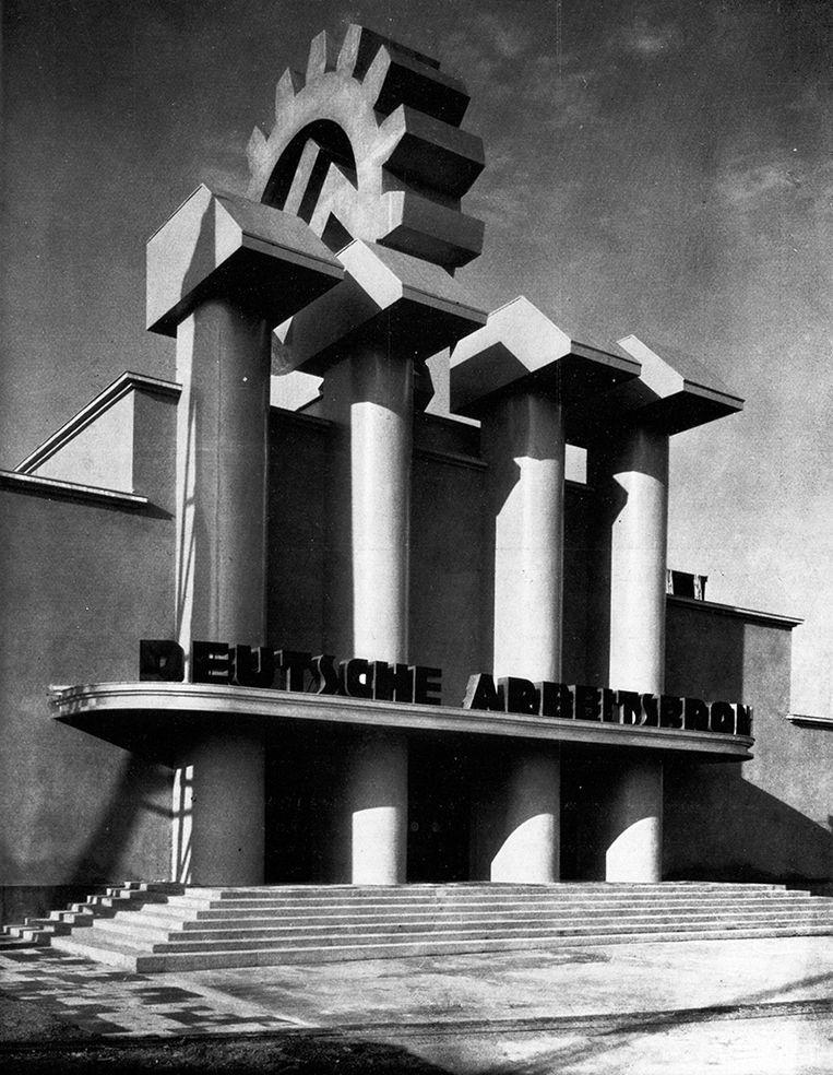 Entree tentoonstelling 'Deutsches Volk, Deutsche Arbeit', Berlijn 1934. Beeld Deutsches Historisches Museum