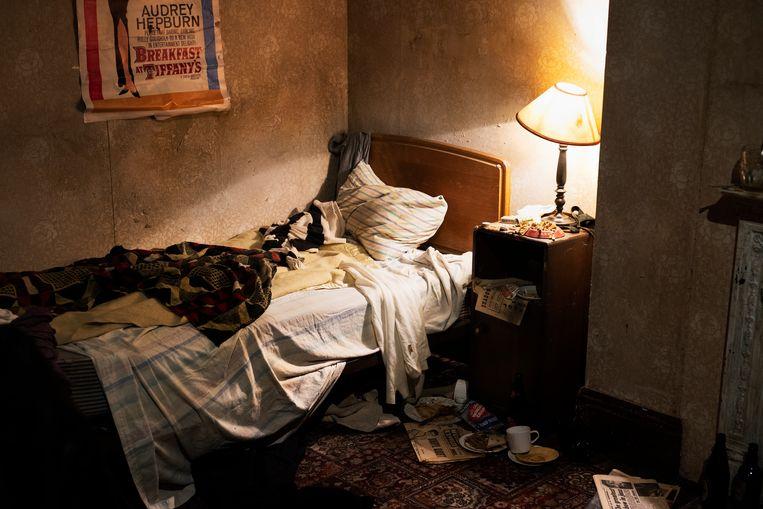 Recontructie van de flat in Chelsea waar Keith Brain en Mick Jagger in 1962 woonden. Beeld David Vroom