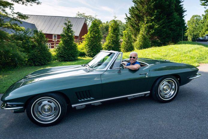 De Corvette die Joe Biden al 54 jaar in zijn bezit heeft.