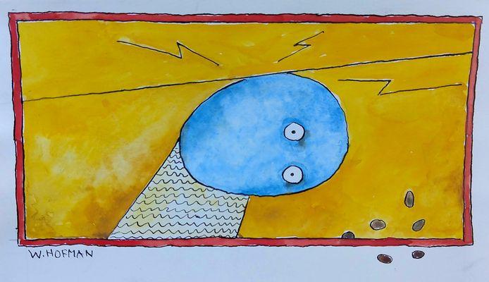 Wim Hofman illustratie bij rubriek Eikels