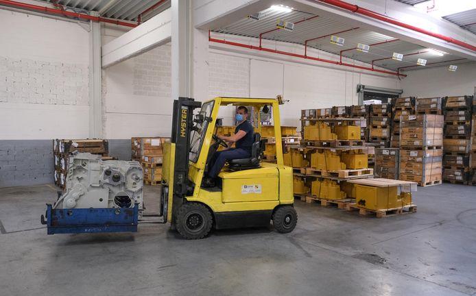 Het automatisch magazijn zorgt voor heel wat tijdswinst en efficiënter werken.