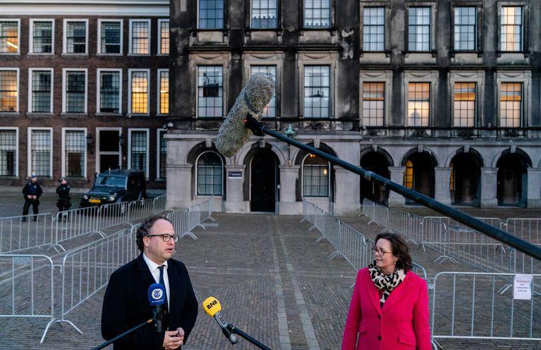 De nieuwe verkenners Van Ark (VVD) en Koolmees (D66) Beeld ANP