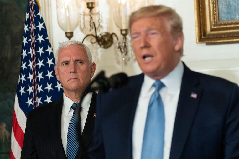 Vicepresident Mike Pence (links) zal ook volgend jaar de 'running mate' van president Trump zijn tijdens de verkiezingsstrijd. Beeld Photo News
