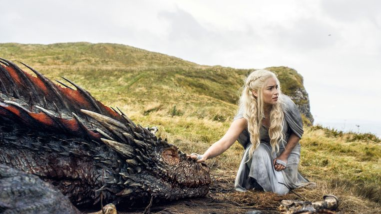 Emilia Clarke als Daenerys Targaryen in 'Game Of Thrones'.