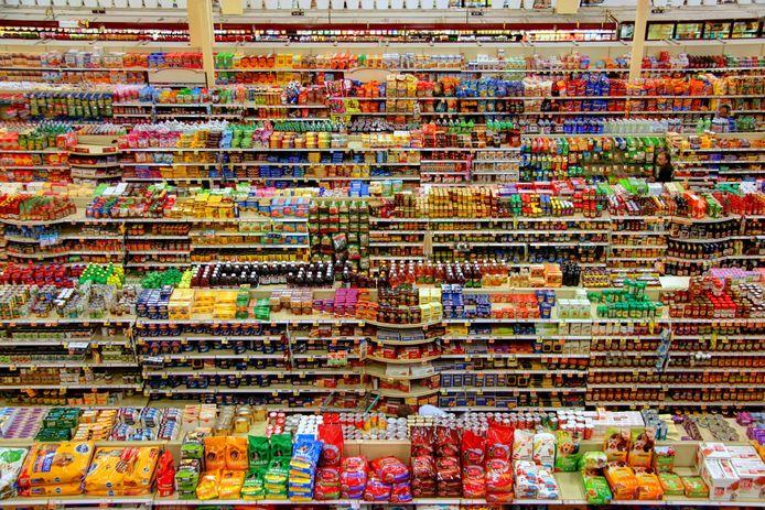 Overprikkeld in de supermarkt.