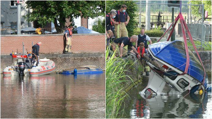 De boot kapseisde vrijdagavond. Drie inzittenden moesten door de brandweer worden gered. De boot werd nadien naar het Zennegat in Mechelen gesleept zodat hij kon worden getakeld.