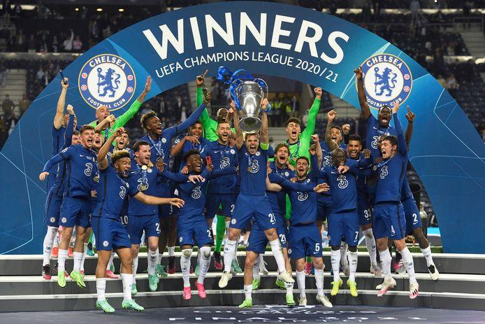 Chelsea won vorig seizoen de Champions League.