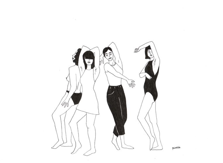 Aurike Quintelier maakt illustraties voor Fille Folle. Beeld Fille Folle