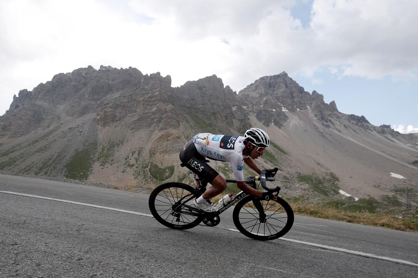 Egan Bernal in de Tour van 2019.