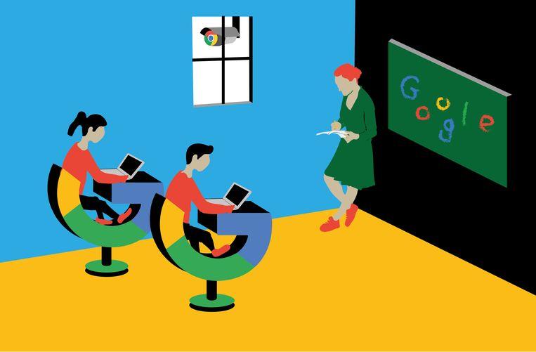 Google gebruik op school is niet veilig genoeg voor onderwijs Beeld Fadi Nadrous