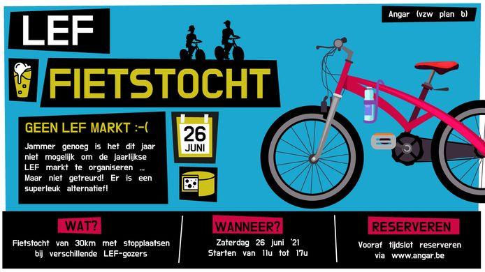 De affiche voor de LEF-fietstocht.