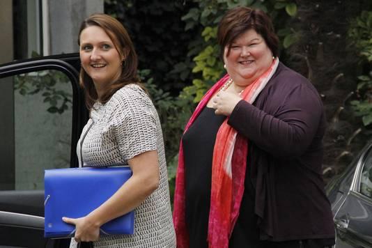 Gwendolyn Rutten en Maggie De Block (Open Vld).