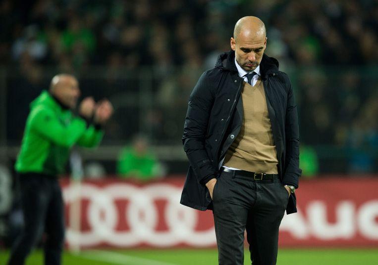 Guardiola baalt van het verlies. Beeld epa