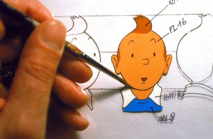 Tintin, le personnage le plus célèbre du dessinateur.