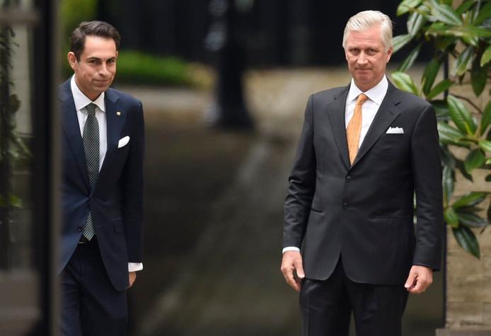Le Roi Philippe et Tom Van Grieken, président du Vlaams Belang.