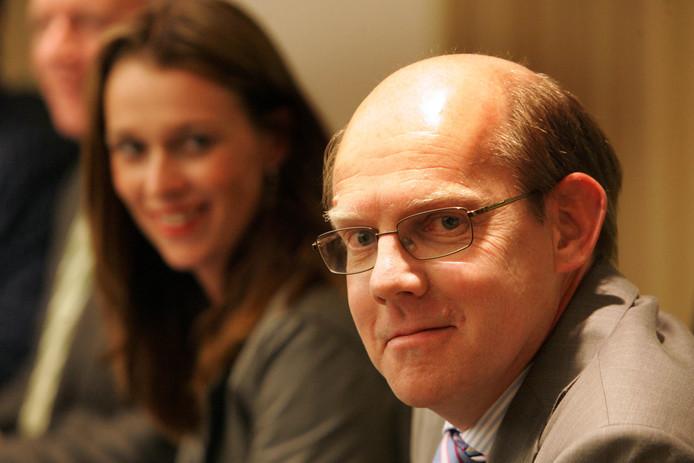 Hans Haring bij zijn benoeming tot wethouder in Zoetermeer, in 2010.