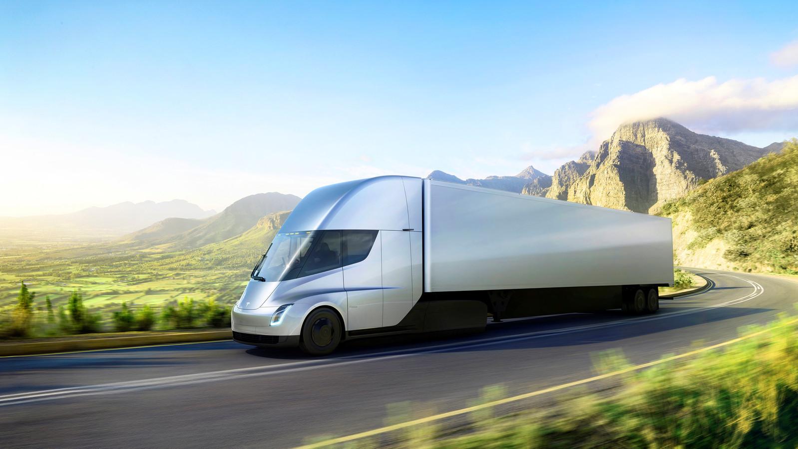 Tesla's elektrische Semi truck