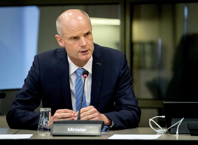 Minister Stef Blok (Buitenlandse Zaken) tijdens een algemeen overleg vandaag met de Kamer over vlucht MH17.