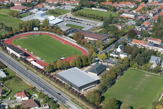 De vrijetijdssite Krekel-Zuid vanuit de lucht.