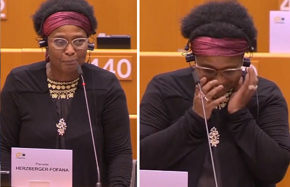 L'eurodéputée allemande Pierrette Herzberger-Fofana (Verts/ALE).