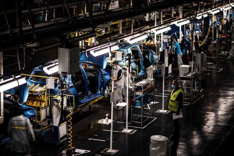 De Renault-fabriek in Flins-sur-Seine, de grootste in Frankrijk. Beeld AFP