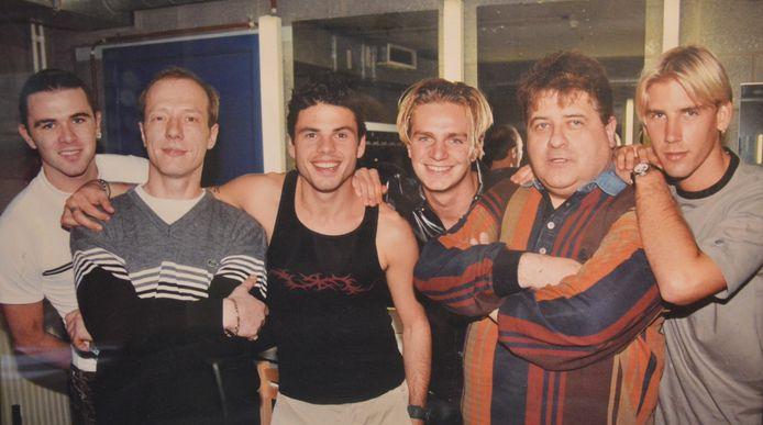 Erik Lemmens en zijn partner Frank Heuten, die al jaren geleden overleed, met Get Ready! eind jaren 90.