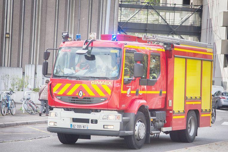Archieffoto van een brandweerwagen in Straatsburg. Beeld Shutterstock
