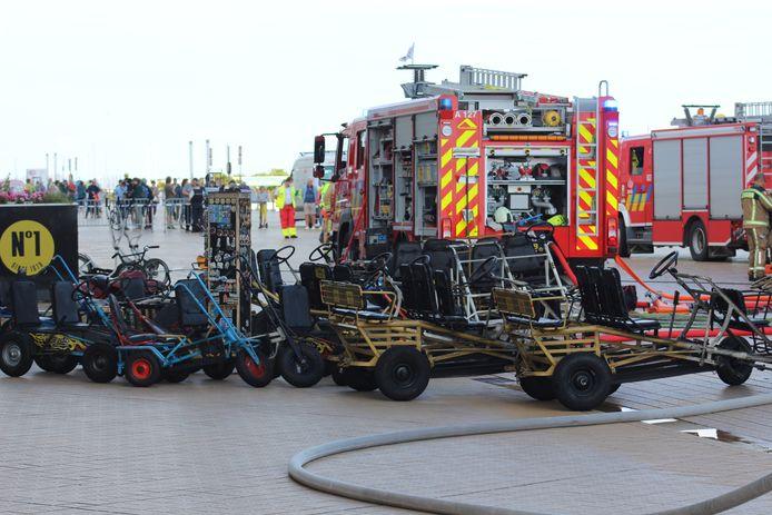 De ravage op het gelijkvloers na de brand op de Albert I-Promenade in Oostende is groot
