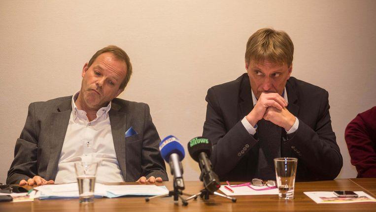Damien Thiéry en Yves Ghequière, kandidaat-burgemeester van Linkebeek.