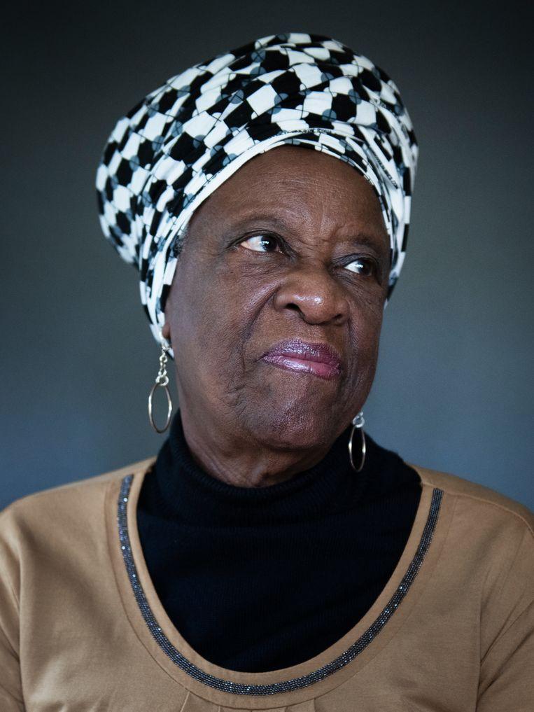 Maria Liberia-Peters: 'Ik dacht: als dit een overwinning wordt, dan zal die voor iedereen zijn, als het een nederlaag wordt, zal het de mijne zijn. Beeld Kiki Groot