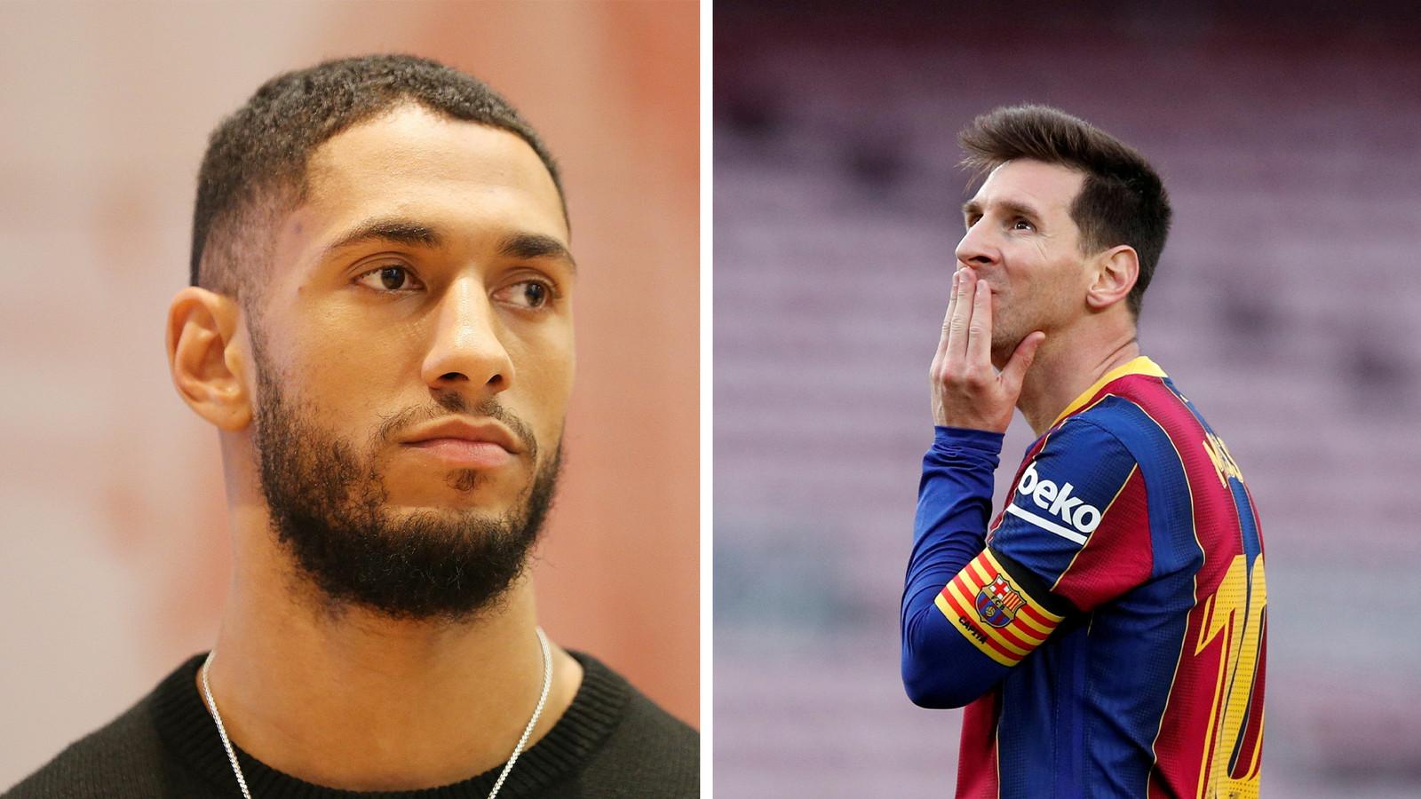 Tony Yoka et Lionel Messi.