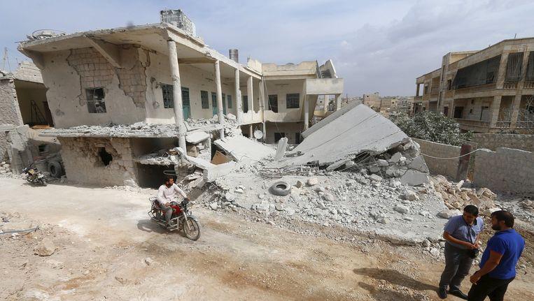 Archiefbeeld van een gebombardeerd Aleppo. Beeld reuters
